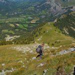 Descente vers le Col de Grisonnière